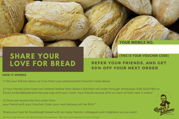Share your love for Bread and get 50% off