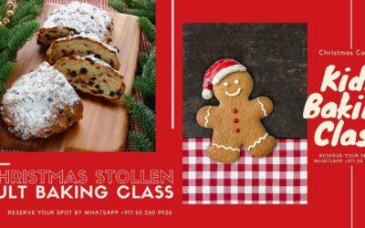 Baking Class Schedule for December